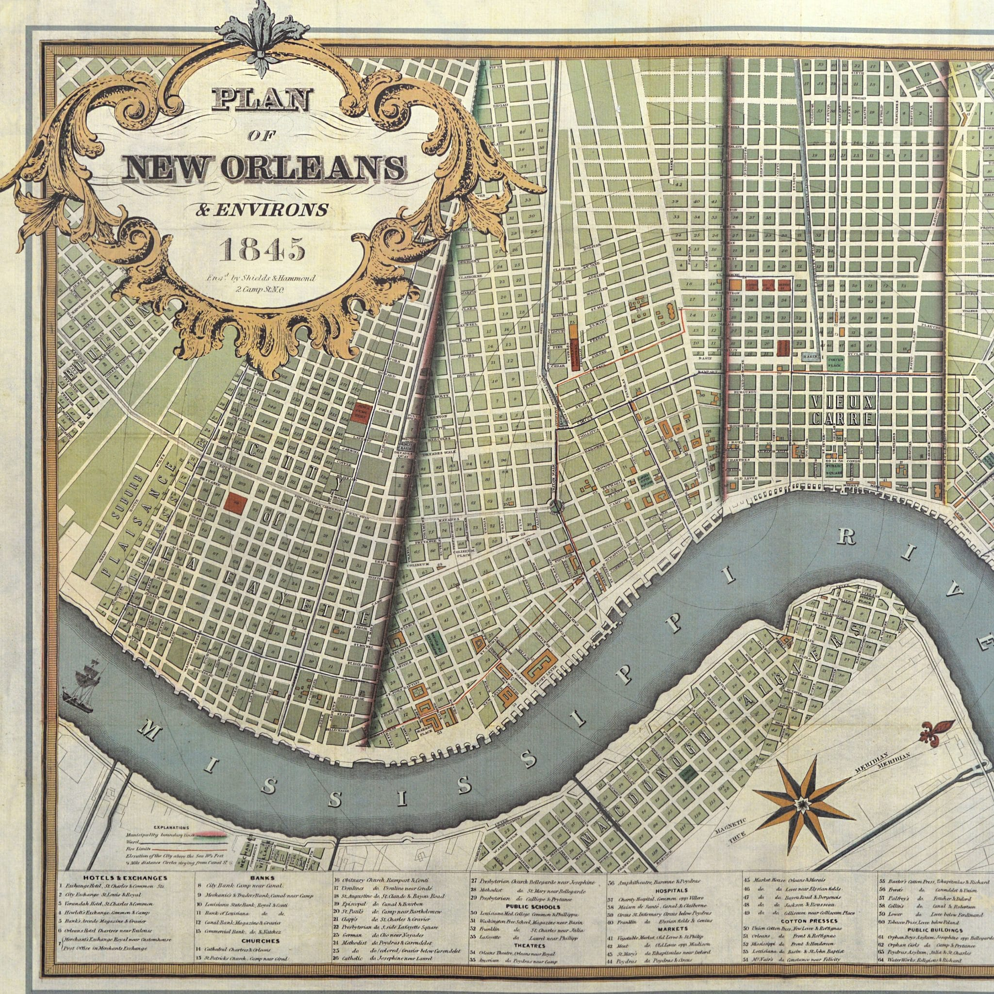 New Orleans Map Wrap 3 Sheet pack* – Scriptura on